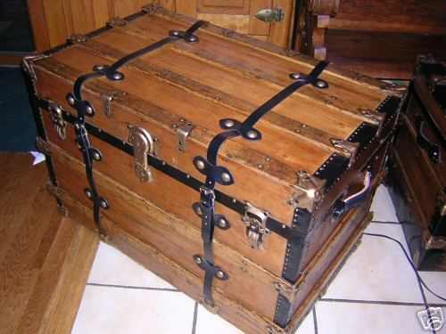 Pirate Chest #6, Closed Front View Master And Commander Sea Chest #6, Left  View
