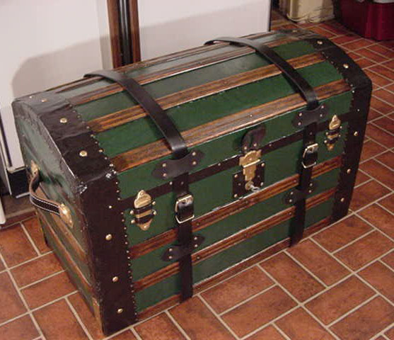 Pirate Treasures Chests Dome Top Chest #9 side and front view