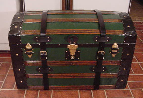 100+ year old Antique Dome Top Captains Sea Chest or Pirates Treasure Chest