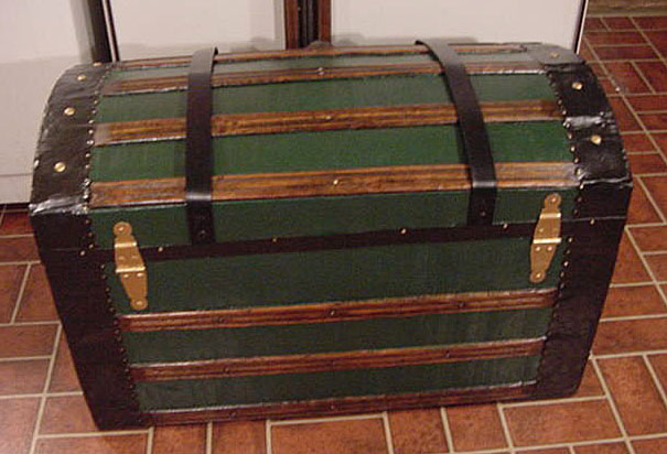 Pirate Chests Dome Top Sea Chest #9 rear view