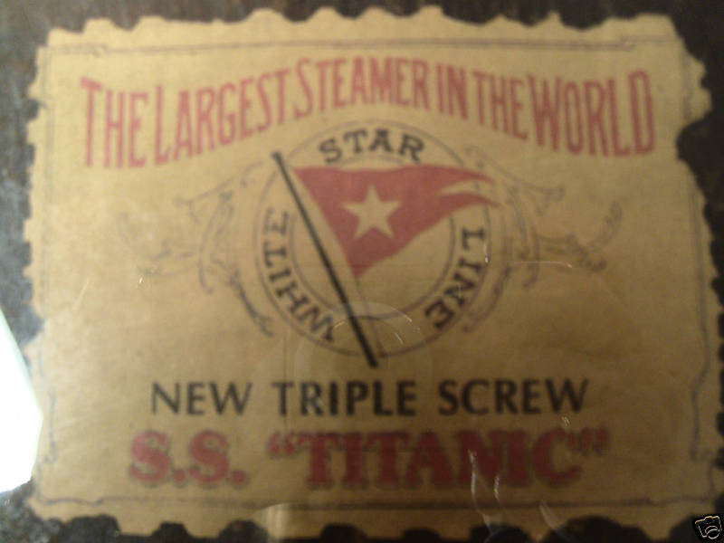 White Star Line Titanic Label Found on Steamer Trunk