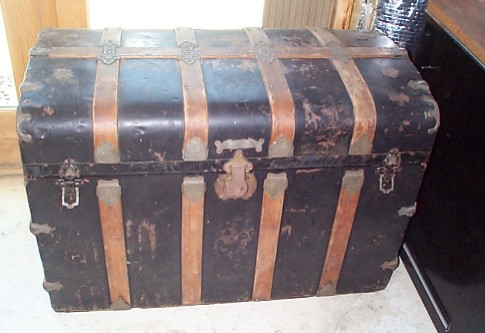 Antique Chest Nautical Dome Top Trunk #140