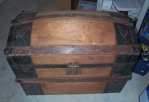 Antique Chest Nautical Dome Top Trunk #141