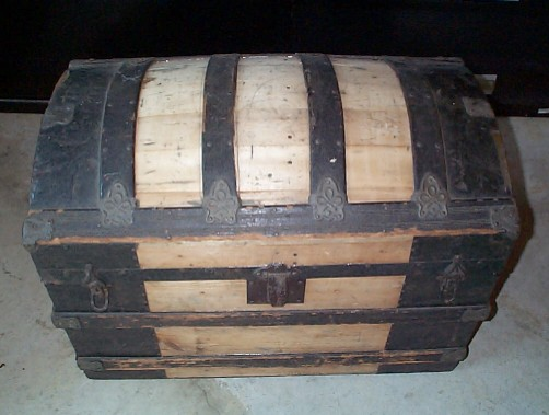Antique Chest Nautical Dome Top Trunk #142