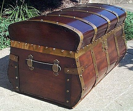 New Restored antique Steamer trunks for sale both flat top and dome  IH43