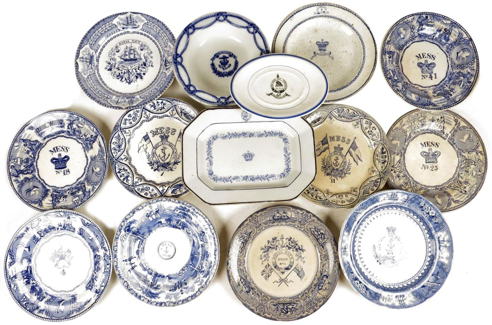 ... british royal navy 19th century mess plates and mess bowls  sc 1 st  The Pirate\u0027s Lair & Identification British Royal Navy Mess Plates Bowls 1800s-1930s ...