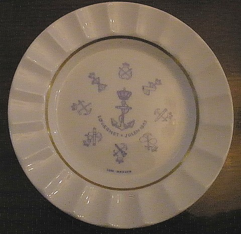 Authentic and Rare Illustrations of Royal Danish Navy Kongelige Danske Marine (or more commonly known as the Sea Defense) Dinnerware and Tableware used by ... & Royal Danish Navy China Dinnerware and Tableware or Kongelige Danske ...