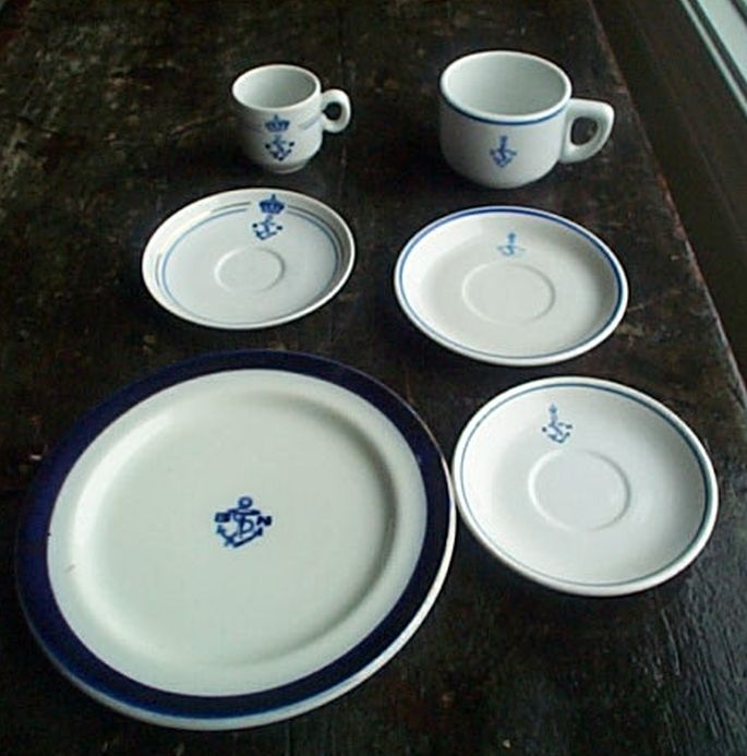 greek navy saucer officeru0027s wardroom china ... & Greek Navy Cup Saucer Dinnerware and Tableware