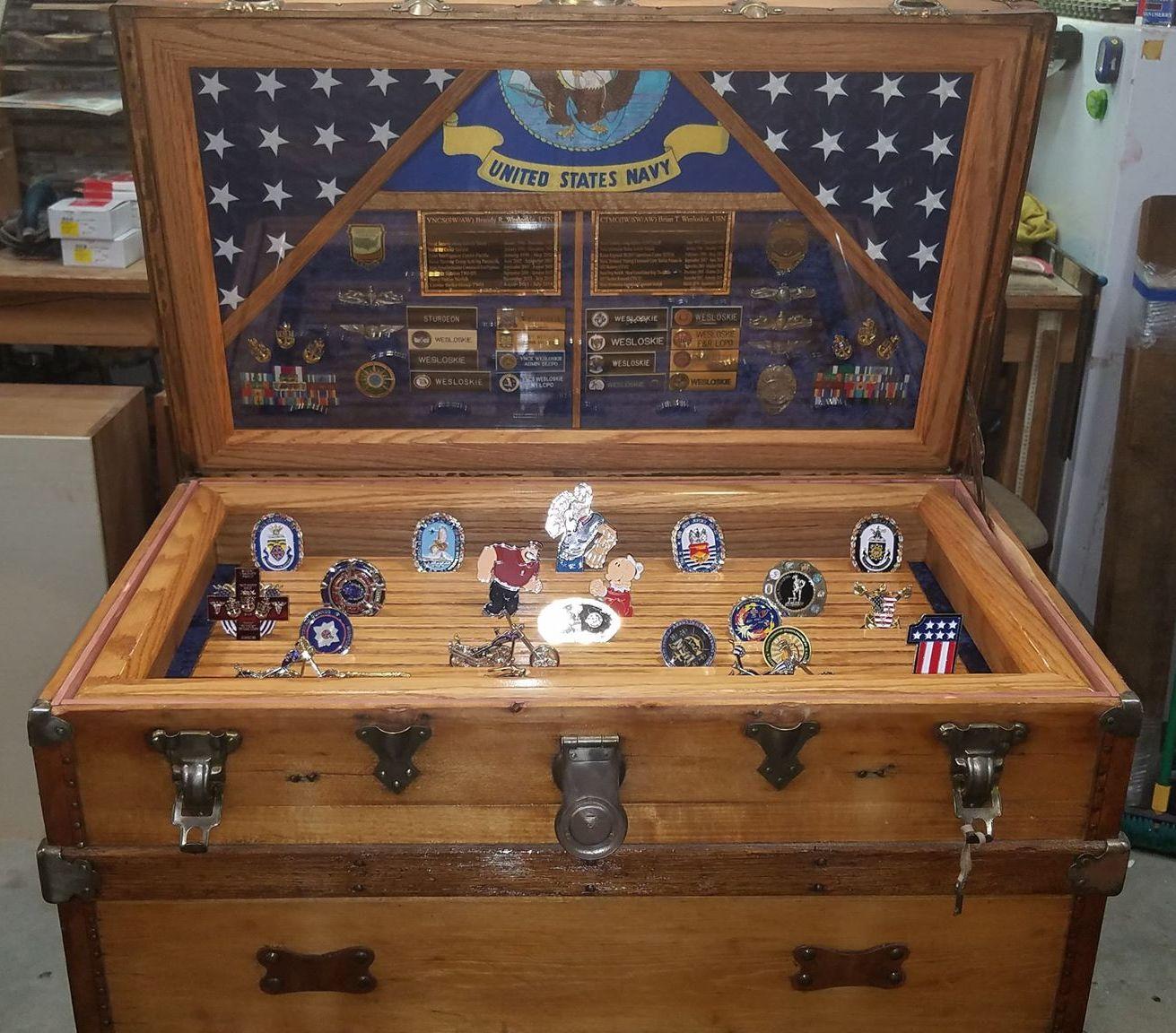 military coin shadow box