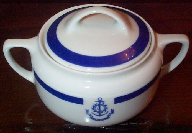 ... royal navy of thailand anchor surgar bowl topmark & Thai Navy or Royal Thai Navy of Thailand Dinnerware and Tableware