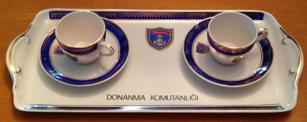 turkish navy demitasse coffee expresso set ... & Turkish Navy or Ottoman Empire Dinnerware and Tableware with Naval ...
