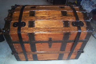 Old Wooden Chest Antique Trunks